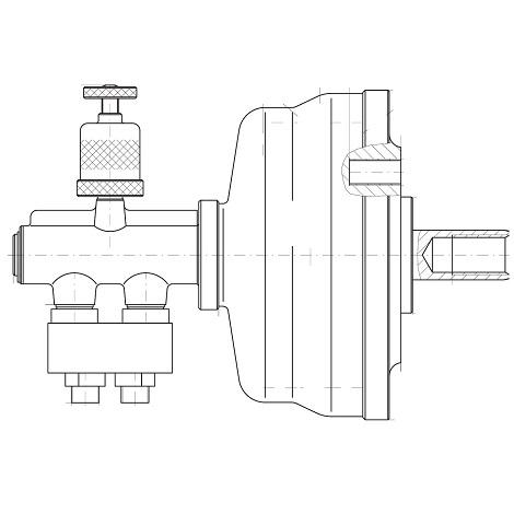 Пневматический цилиндр тип 1202