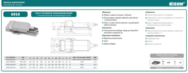Машинные тиски тип 6910
