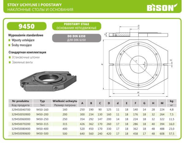 Основание тип 9450